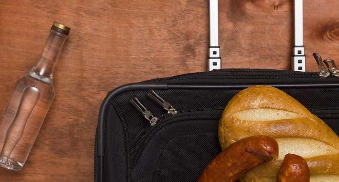 Dovoz jídla a cigeret do USA