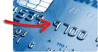 Embosovaná platební karta do USA