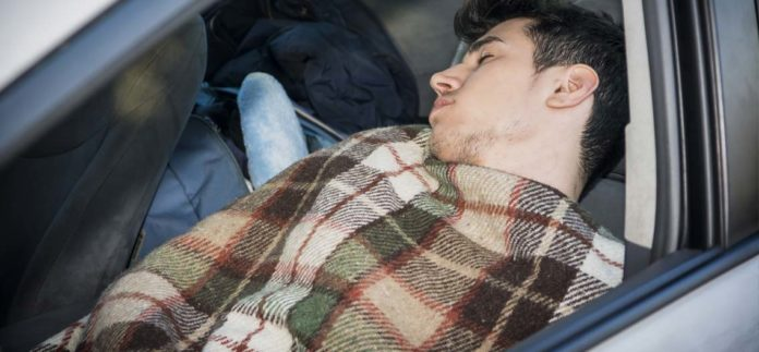 Spaní v autě v USA