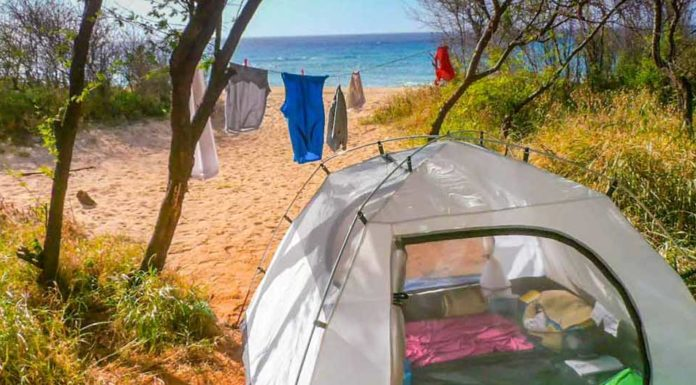 Stanování na Havajských ostrovech