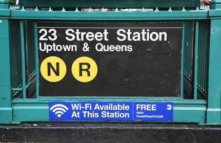 Volná Wi-Fi v New Yorku