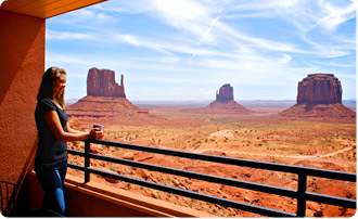 Hotel v Monument Valley