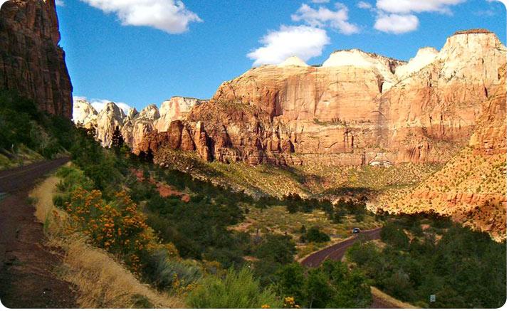Zion národní park USA