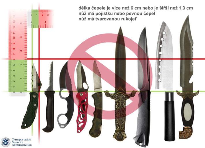 Zakázané nože na palubu letadla