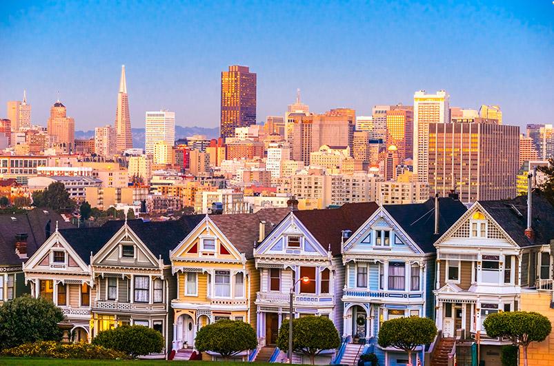 San Francisco viktoriánské domy