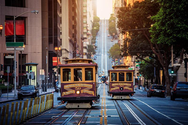 Tramvaj na California Street