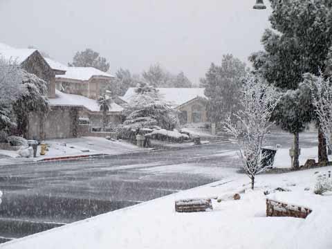 Sníh v Las Vegas