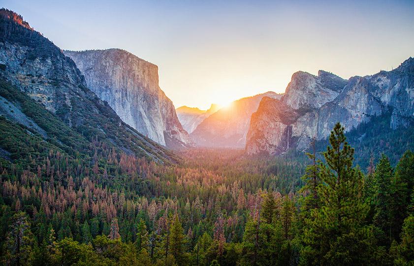 Tunnel View - Yosemita národní park