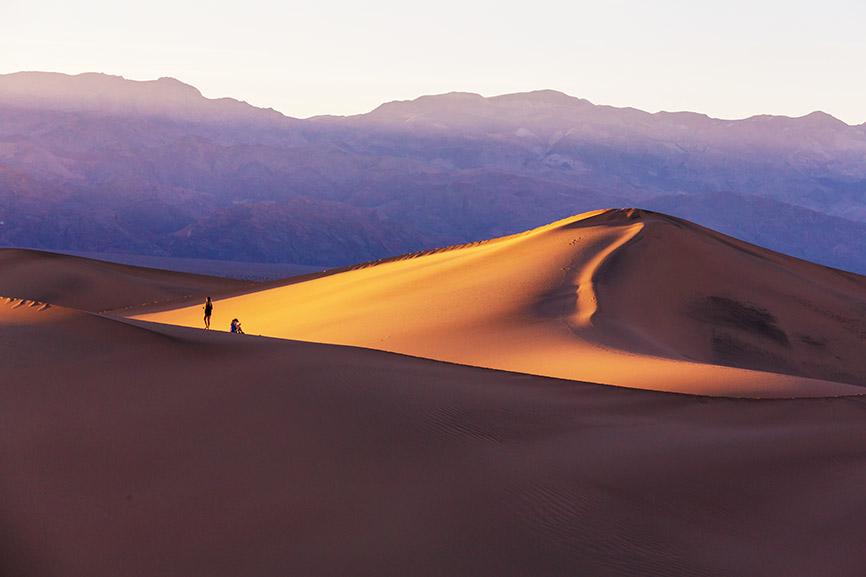 Písečné duny v Údolí smrti