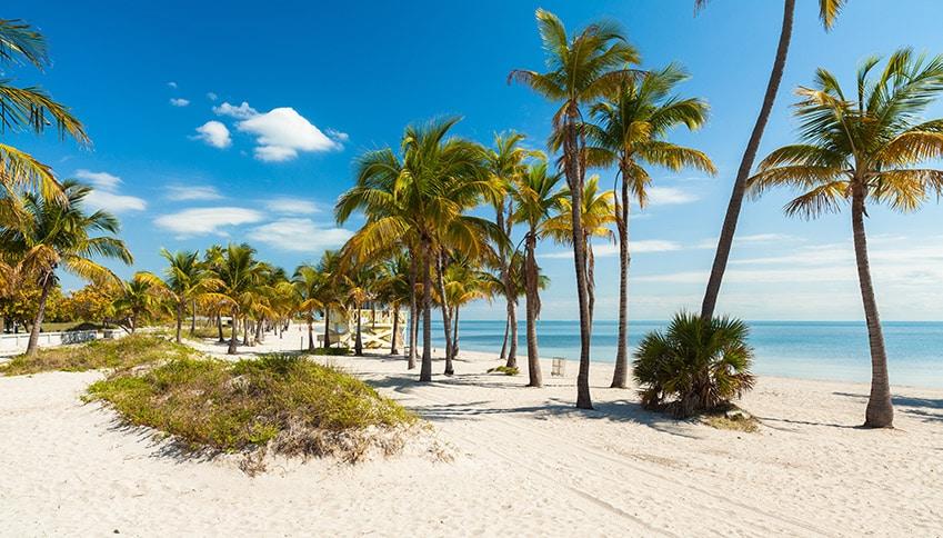 Pláž na Key Biscayne