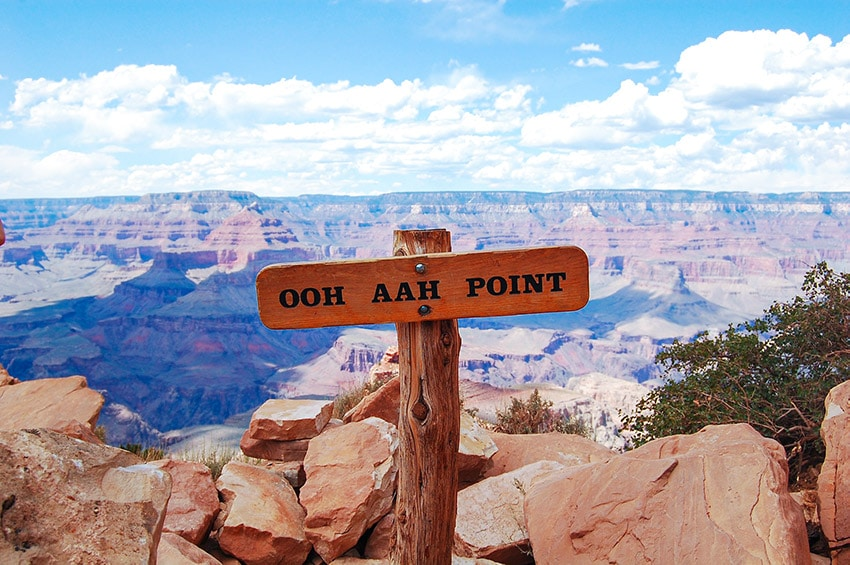 OOH AAH Point v Grand Canyonu
