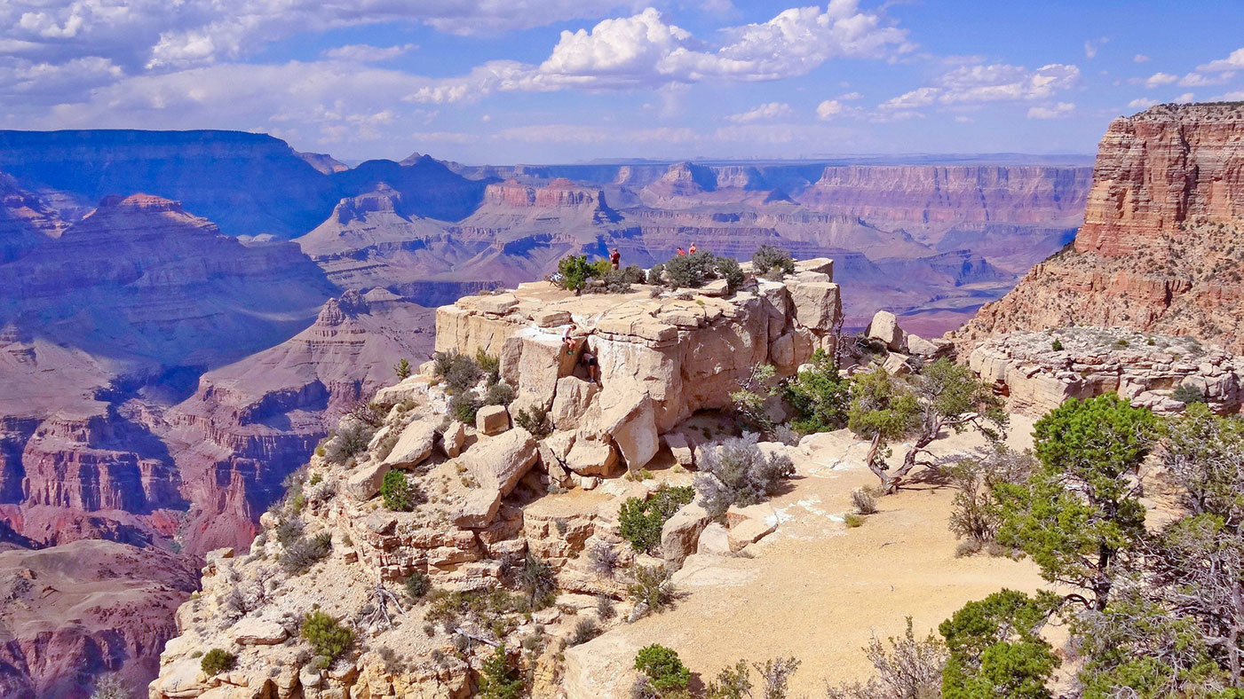 Sestup do Grand Canyonu